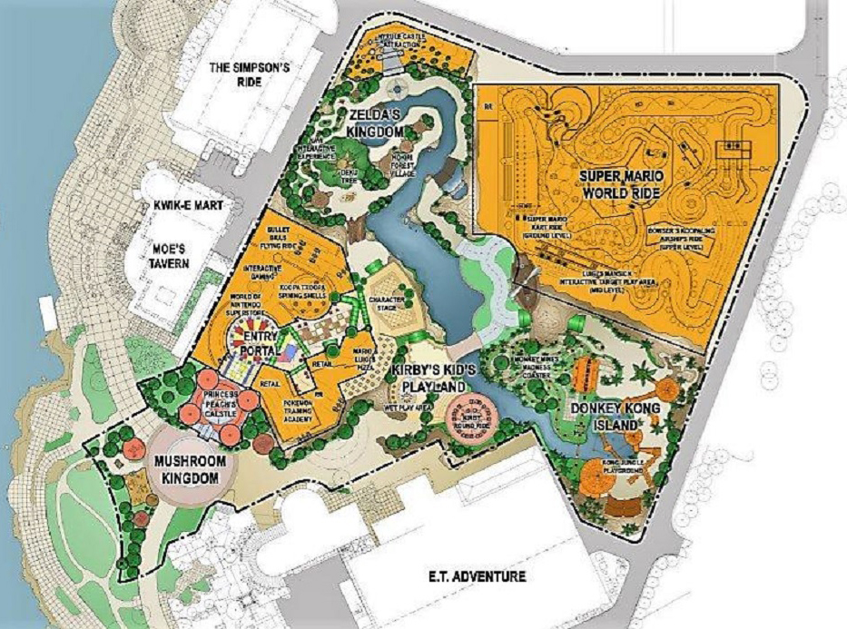 Mario World park Map