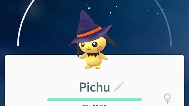 halloween-pichu pokemon go